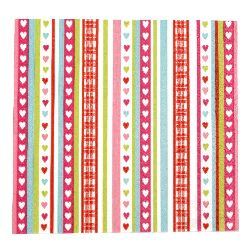 Салфетка HOME FASHION 33x33 см трипластова Lovely Stripes -1 брой