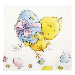 Napkin HOME FASHION 33x33 cm three-layer Easter Run -1 piece