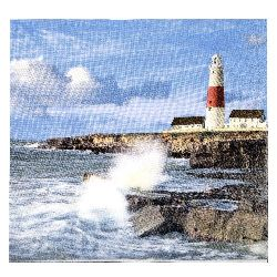Салфетка HOME FASHION 33x33 см трипластова Lighthouse on a Cliff -1 брой