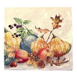 Салфетка HOME FASHION 33x33 см трипластова Painted Pumpkins -1 брой