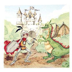 Салфетка HOME FASHION 33x33 см трипластова Training Your Dragon -1 брой