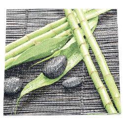 Салфетка HOME FASHION 33x33 см трипластова Bamboo Wellness -1 брой