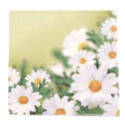 Салфетка HOME FASHION 33x33 см трипластова White Daisies -1 брой