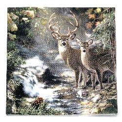 Салфетка HOME FASHION 33x33 см трипластова Deers on a Creek -1 брой