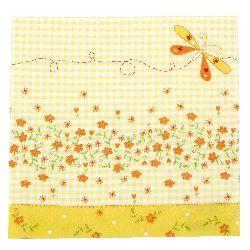Салфетка HOME FASHION 33x33 см трипластова Petty yellow -1 брой