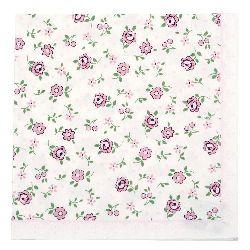 Салфетка HOME FASHION 33x33 см трипластова Mille Fleurs rose -1 брой