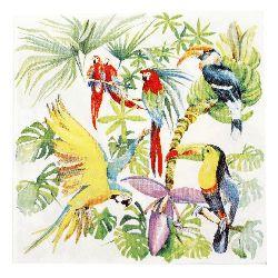 Șervețel HOME FASHION 33x33 cm trei straturi Birds of Paradise -1 buc