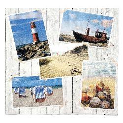 Салфетка HOME FASHION 33x33 см трипластова Beach Impressions -1 брой