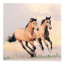 Салфетка HOME FASHION 33x33 см трипластова Wild Horses -1 брой