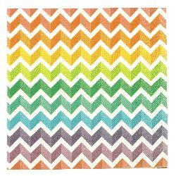 Салфетка HOME FASHION 33x33 см трипластова Rainbow Chevron -1 брой