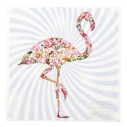 Салфетка HOME FASHION 33x33 см трипластова Flamingo -1 брой