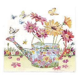 Салфетка HOME FASHION 33x33 см трипластова Flowery Can -1 брой