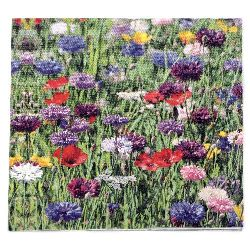 Салфетка HOME FASHION 33x33 см трипластова Flower Field -1 брой