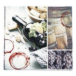 Салфетка HOME FASHION 33x33 см трипластова Red Wine Spirit -1 брой