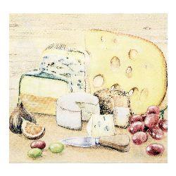Салфетка HOME FASHION 33x33 см трипластова Taste of Cheese -1 брой