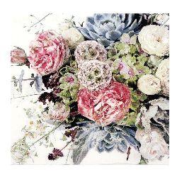 Салфетка HOME FASHION 33x33 см трипластова Flower Variety -1 брой