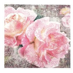 Салфетка HOME FASHION 33x33 см трипластова English Rose -1 брой