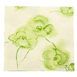 Салфетка HOME FASHION 33x33 см трипластова Modern Flowers grun -1 брой