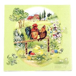 Napkin HOME FASHION for decoupage33x33 cm three-layer Ostermorgen -1 piece