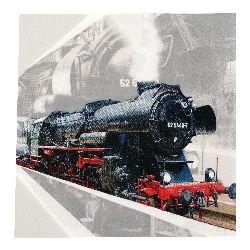 Салфетка HOME FASHION 33x33 см трипластова Lokomotive -1 брой