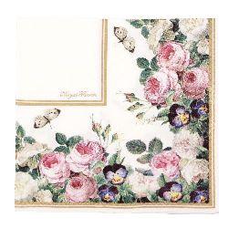 Салфетка HOME FASHION 33x33 см трипластова Royal Flowers-Blumenstuck -1 брой