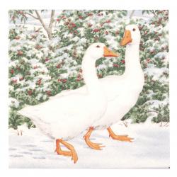 Салфетка HOME FASHION 33x33 см трипластова Geese Couple -1 брой