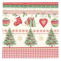 Салфетка HOME FASHION 33x33 см трипластова Icy Traditional Christmas -1 брой