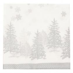 Салфетка HOME FASHION 33x33 см трипластова Trees and Snowflakes -1 брой