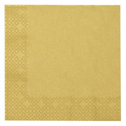 Napkin HOME FASHION 33x33 cm three-layer Uni gold -1 piece