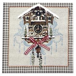 Салфетка HOME FASHION 33x33 см трипластова Cuckoo Clock -1 брой