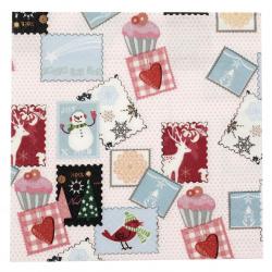 Салфетка HOME FASHION 33x33 см трипластова Winter Stamps -1 брой