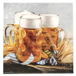 Șervețel HOME FASHION 33x33 cm cana de bere cu trei straturi -1 buc