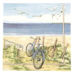Салфетка за декупаж Ambiente 33x33 см трипластова Beach Bicycle-1 брой