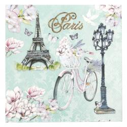 Салфетка за декупаж Ambiente 33x33 см трипластова Bike In Paris-1 брой