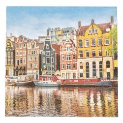 Салфетка за декупаж Ambiente 33x33 см трипластова Canal Houses-1 брой