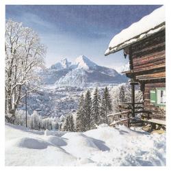 Салфетка за декупаж Ambiente 33x33 см трипластова Mountain-1 брой