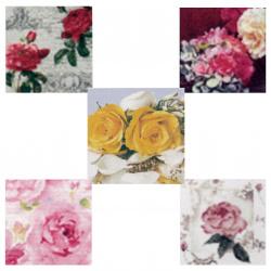 Салфетки за декупаж ti-flair 33x33 см трипластови 5 дизайна -5 броя - рози
