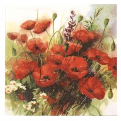 Салфетка за декупаж Ambiente 33x33 см трипластова Wild Poppies -1 брой
