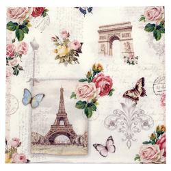 Салфетка за декупаж Ambiente 33x33 см трипластова Paris Monuments -1 брой