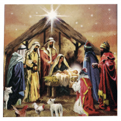 Салфетка за декупаж Ambiente 33x33 см трипластова Nativity Collage -1 брой