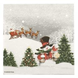 Салфетка за декупаж Ambiente 33x33 см трипластова Happiy Holidays -1 брой
