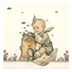 Салфетка за декупаж Ambiente 33x33 см трипластова Honey Lover -1 брой