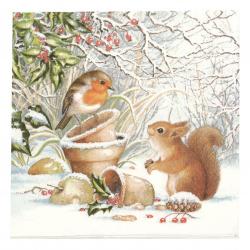 Салфетка за декупаж Ambiente 33x33 см трипластовa Winter Picture -1 брой