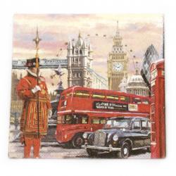 Decoupage napkin Ambiente 25x25 cm three-layer London Street -1 piece