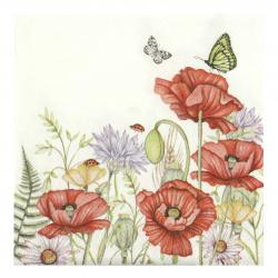 Салфетка за декупаж Ambiente 25x25 см трипластова Summertime White -1 брой