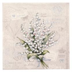 Салфетка за декупаж Ambiente 25x25 см трипластова Lily of the valley -1 брой