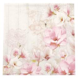 Салфетка за декупаж Ambiente 25x25 см трипластова Magnolia garden -1 брой