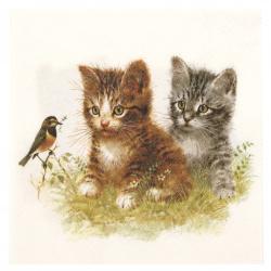 Салфетка за декупаж Ambiente 25x25 см трипластова Kitten Frend -1 брой
