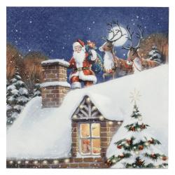 Салфетка ti-flair 33x33 см трипластова Santa on Rooftop with Reindeer -1 брой