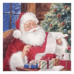 Χαρτοπετσέτα Ti-flair 33x33 εκ. Άγιος Βασίλης έλεγχος Λίστα επιθυμιών -1 τεμάχιο
